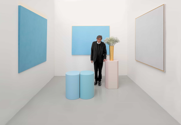 Ettore Spalletti, Ombre d'azur, transparence