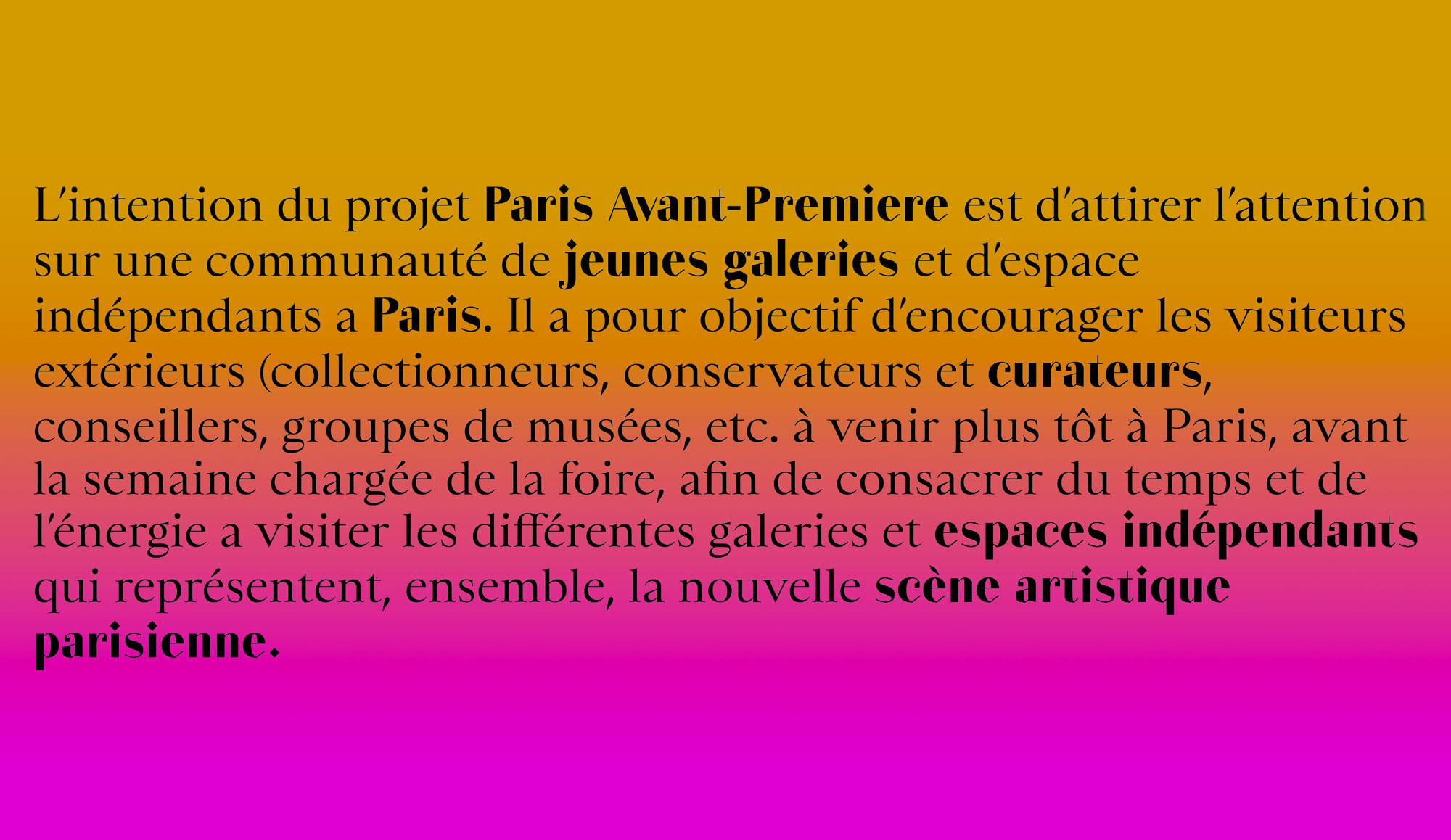 Paris avant-première