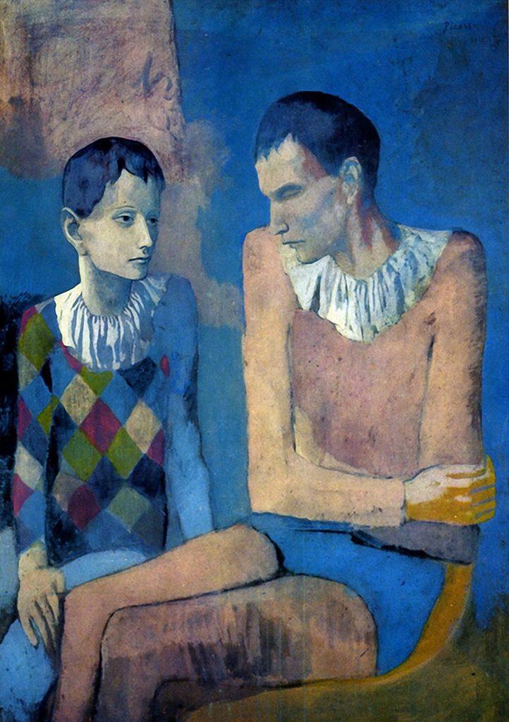Le jeune Picasso, période bleue et rose