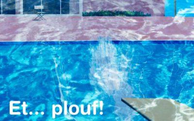 Et… plouf! David Hockney